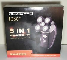 New ROZIAPRO 360°5 IN 1 GROOMING KIT MODEL HT 975 Electric Razor with Charger!