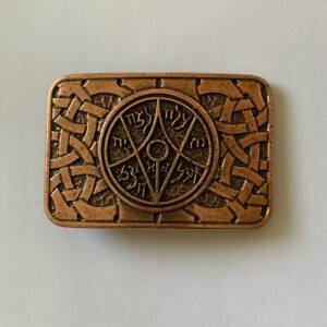 Ancient Hebrew Symbol Evil Eye Belt Buckle Jewish Magical Belt Close for Men