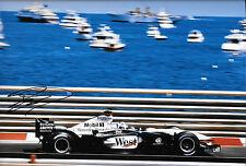 "David Coulthard SIGNED 12x8 McLaren-Mercedes MP4/17 ,  Monaco GP 2002 ""Winner"""