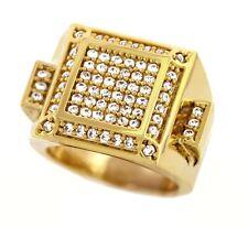 18K Gold Plated Brass Micro Paved Iced Urban Hip Hop OG Ring for Men 006