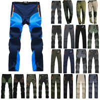 Mens Windproof Quick Dry Outdoor Hiking Trousers Casual Sports Trekking Pants