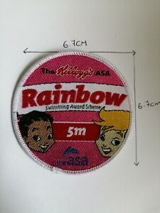 Swimming award / badges , Kellogg's , Rainbow, from 5m-800m