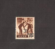 SAAR 1947 - 3f  on 15P Yellowish Paper ,Yvert # 220A Mint Lh  (Cat 1000 Eur )