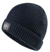 Scruffs Knitted Fisherman's Beanie Hat Navy Warm Winter Workwear