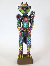 "Alebrije Devil Oaxaca Mexico Wood Carving W Correct Anatomy Mexican Folk Art 15"""