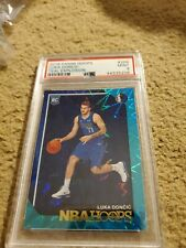 Luka Doncic 2018-19 NBA Hoops Basketball Teal Explosion RC Parallel No. 268 PSA9