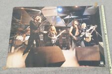 Iron Maiden 1981 Poster Live Stage Shot Rock On Holland VINTAGE - HEAVY METAL