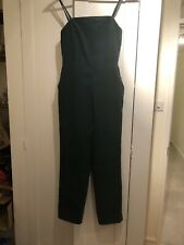 Asos Green Teal Cord Jumpsuit Dungarees Size 8 Front Pockets