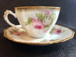 A. Lanternier Limoges tea cup and saucer