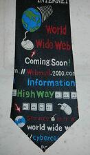 Computer World Wide Web WWW Internet Nerd Geek Mens Neck Tie by Essex