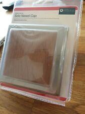 Oak and Brushed Nickel newel post cap 90mm
