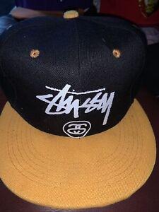 STUSSY NEW Black + Yellow Hat Cap..