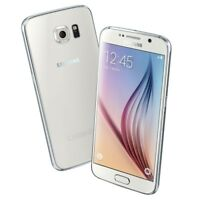 "Blanc Samsung Galaxy S6 SM-G920A 32 Go 5.1"" Débloqué d'usin Smartphone TéléPhone"