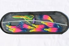 18-inch Flexible Spreader Bar w/ RAINBOW Squids, Hook Lure and Storage Bag