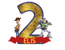 Personalised toy story birthday cake topper decoration party any name age