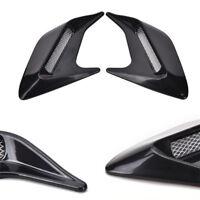 2 Pcs Black Car Body Fender Side Vent Hood Air Flow Grille Decorative Stickers