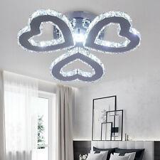 Modern Chandelier Crystal Heart-shaped LED Ceiling Light Pendant Hang Lamp IP20