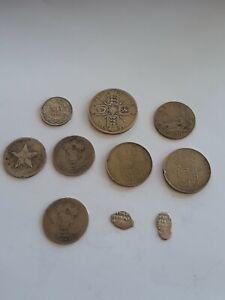Lot de monnaies du monde en argent  dont médiévales !!