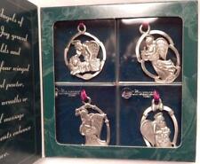 Longaberger Pewter Angel Ornaments, Set Of 4