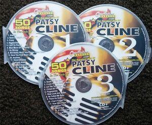 PATSY CLINE 3 CDG DISCS CHARTBUSTER HITS COUNTRY KARAOKE 50 SONGS CD+G 5104