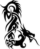 Dragon Tribal Dragons Car Decal Window Sticker TRB009