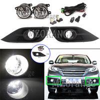 Full Set LED Front Bumper Fog Light Lamp Wiring Kit For Honda CRV CR-V 2012-2014