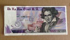 Biglietto Campione Specimen Beethoven De La Rue Giori SA, Spl