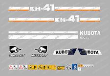 KUBOTA KH41 Mini Bagger komplette Aufkleber Satz mit sicherheit-warnzeichen