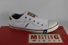 Mustang Slippers Trainers Sports Shoes Low Shoes White Fabric New
