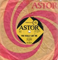 "THE KINKS ~ You Really Got Me ~ Original 1964 Australian 2-track 7"" vinyl single"