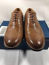 Nunn Bush TJ Wingtip Oxfords Tan Leather Shoes 84637-240 Men's Size 9.5 M NEW