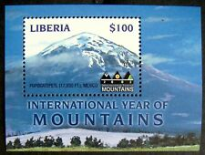 2002 MNH LIBERIA YEAR OF THE MOUNTAINS STAMP SOUVENIR SHEET LANDSCAPE SCENERY