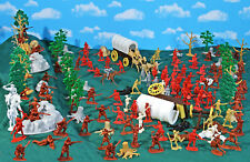 French and Indian War 'Forest Ambush' Playset - 54mm 1:32 Plastic Toy Soldiers