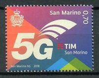 San Marino 2018 MNH 5G Technology 1v Set Telecoms Telecommunications Stamps