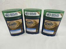 Tom's of Maine for Men Deodorant Antiperspirant Mountain Spring 2.25 Oz 3 Pack