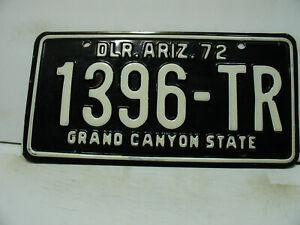 1972 Arizona License Plate  1396 -TR   DLR. ARIZ.          Vintage  7271