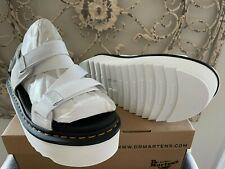 DR. MARTENS   Women's 10 US (8 UK) White Kimber Slingback Platform Sandal Shoes