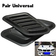 1 Pair Black Car Decorative Air Flow Vent Cover Auto SUV Hood Fenders Universal