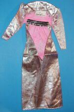 Vintage Mattel Genuine Barbie Fashion Long Metallic Silver & Pink Jacket/Coat