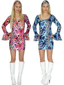 Kostüm Hippie Kleid Damenkostüm Gr. 36 38 40 42 60er 70er Jahre Faschingskostüm