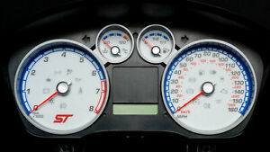 Ford Focus ST Stunning Speedo Dial Faces with Blue night illumination