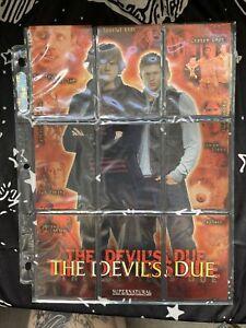Inkworks Supernatural Trading Cards The Devil's Due 9 Card Puzzle Chase Set