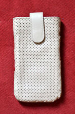 New $290 Authentic Bottega Veneta White Leather Iphone Cellphone Case