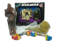 Vintage Star Wars Chewbacca Bendems Jabba the Hutt and Pez Dispensers Bundle