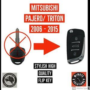 FITS MITSUBISHI PAJERO TRITON 2006 - 2015 COMPLETE REMOTE TRANSPONDER FLIP KEY