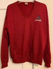 Vintage Alabama Crimson Tide Wolf & Sons Logo L/S V Neck Sweater Men sz L!