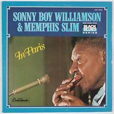 SONNY BOY WILLIAMSON & MEMPHIS SLIM: In Paris GRP Blues Vinyl LP NM- Superb!