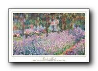 Claude Monet The Artist's Garden At Giverny Wall Decor Art Print Poster (24x36)