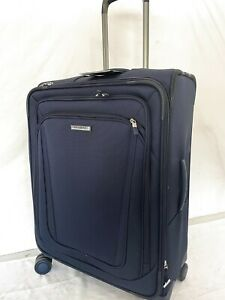 """$580 New Samsonite Silhouette 16 25"""" Expandable Spinner Suitcase Luggage Blue"""