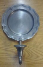 Vintage Colonial Casting Co. Pewter French Country Candle Holder Wall Sconce